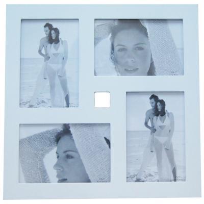 Marco foto 10x15 madera collage blanco