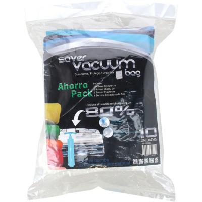 Pack 10 bolsas ahorra espacio con extractor aire