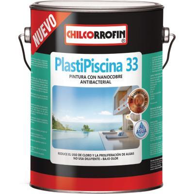 Plastipiscina 33 base agua con nano tecnología partículas de cobre turquesa galón