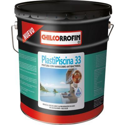 Plastipiscina 33 base agua con nano tecnología partículas de cobre azul Tahití 4 galón