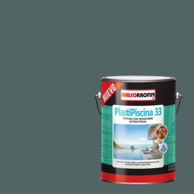 Plastipiscina 33 base agua con nano tecnología partículas de cobre gris acero galón