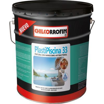 Plastipiscina 33 base agua con nano tecnología partículas de cobre turquesa 4 galón
