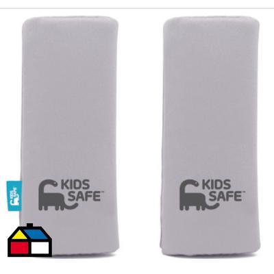 Pack cubre cinturón de seguridad gris polyester