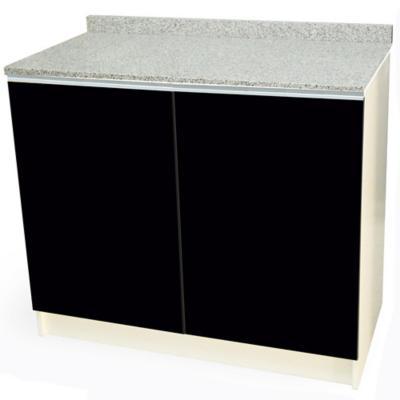 Mueble base 100x50 cm granito negro alto brillo
