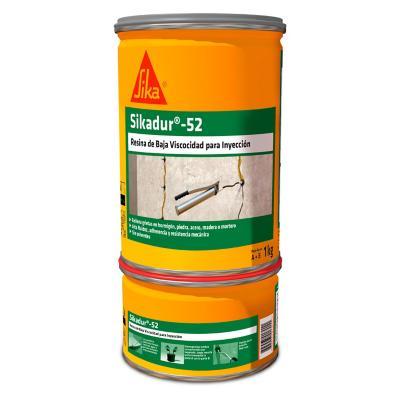 Juego (A+ B) 1 kg Sikadur 52 Base epóxica para inyección y morteros epóxicos