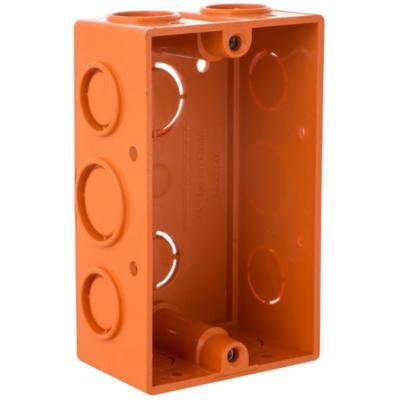 Caja de Distribución p/ Tabiquería Inserto Metálico color Naranja 99x58,5 mm PVC embutida