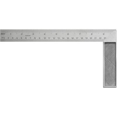 """Escuadra carpintería 10"""" aluminio gris"""