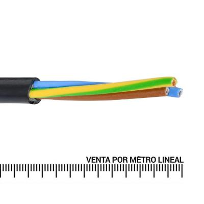 Cordón 3x1,5 mm por metro lineal, Negro