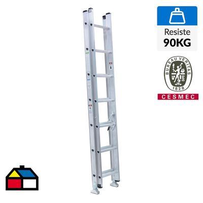 Escala telescópica aluminio 14 peldaños   Resistencia 90 Kilos