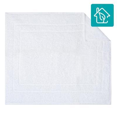 Piso para baño algodón 40x50 cm blanco