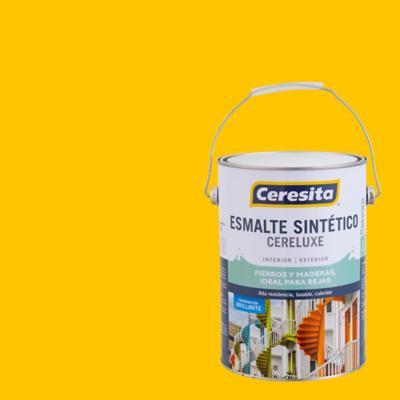 Esmalte sintético brillante 1 gl amarillo