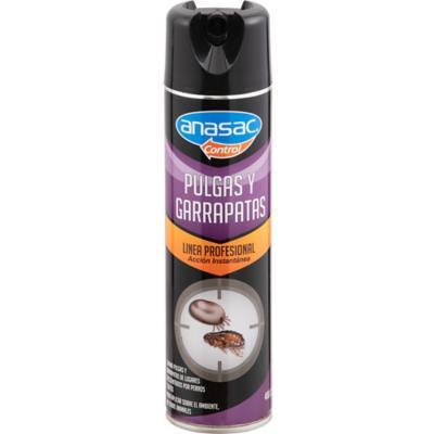 Insecticida para Pulgas y Garrapatas Aerosol 400 cc