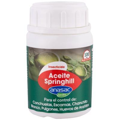 Insecticida Aceite Miscible Springhill 100 cc frasco