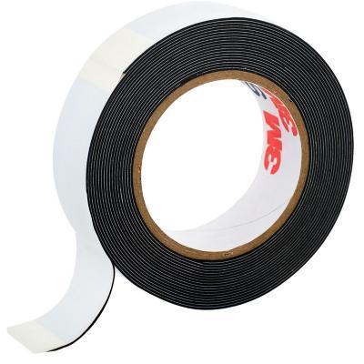 Cinta aisladora eléctrica de goma autofundente 3/4'' 3 m Negro