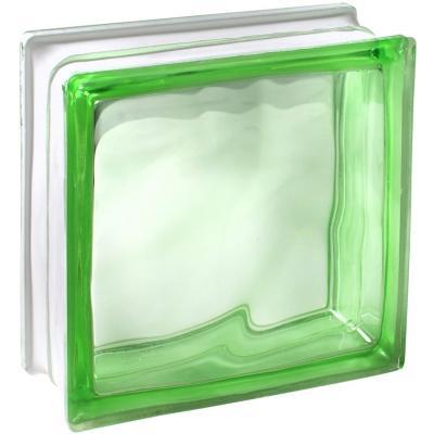 Bloque vidrio 19x19x8 Cloudy Verde