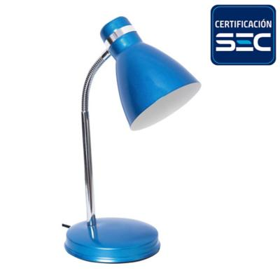 Lámpara de escritorio azul 28 cm 40 W