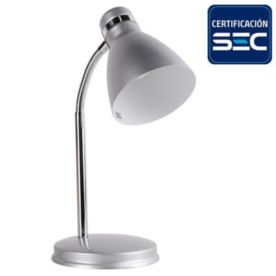 Lámpara de escritorio gris 28 cm 40 W