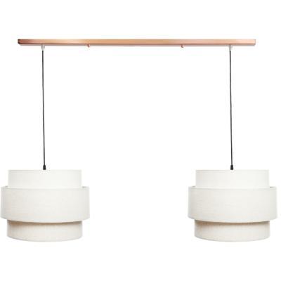Lámpara de colgar Tela Acordeon Beige