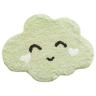Bajada de cama infantil Nube 60x80 cm verde