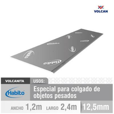 12,5 mm 120x240 cm Plancha Volcanita borde rebajado Habito