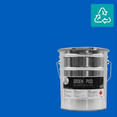 Tineta pintura piso azul sustentable
