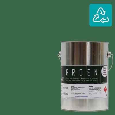 Galón pintura piso verde sustentable