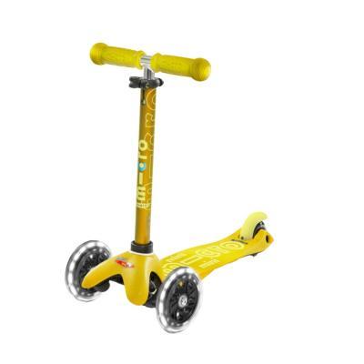 Scooter micro mini deluxe led amarillo
