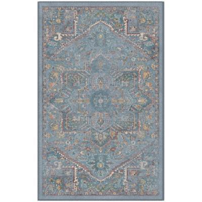 Alfombra vintage turquesa 120x170 cm
