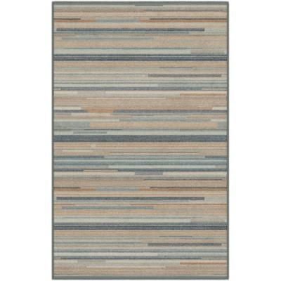 Bajada de cama lustrous gris 67x105 cm azul
