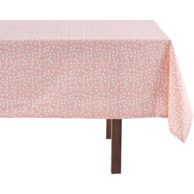 Mantel cuadrado rosa dise 160x160