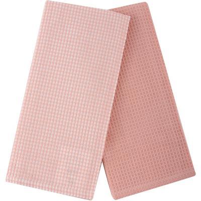 Set 2 paños waffle rosa