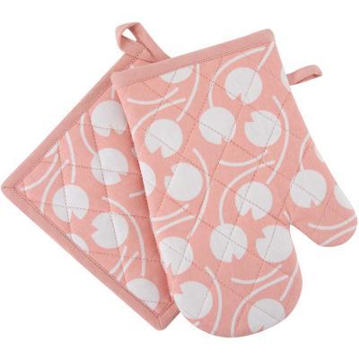 Set guante toma rosa