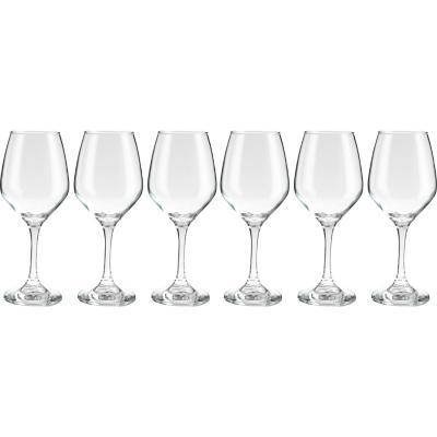 Set 6 copas de vino vidrio