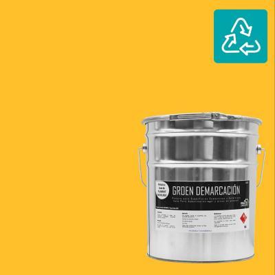 Tineta pintura demarcación amarilla sustentable