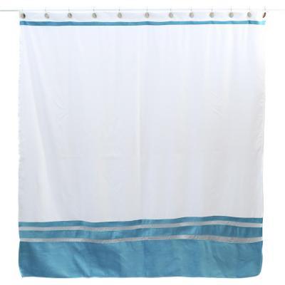 Cortina baño turquesa 180x180 cm