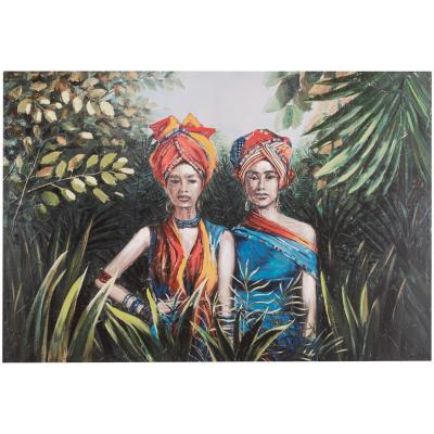 Canvas 90x60 cm Pareja Africana
