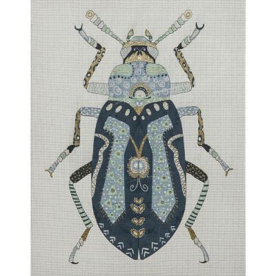 Canvas 30x40 cm Insecto azul