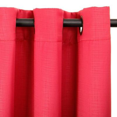 Set de cortinas tela 225x140cm Embosed rojo