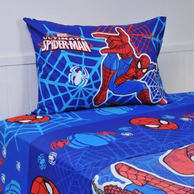Sábana multicolor Spiderman Webs 1,5 plazas