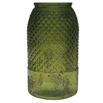Florero antic verde 28 cm