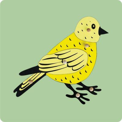 Encaje con mango pájaro madera