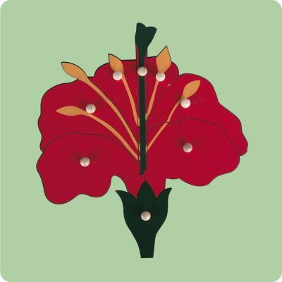 Encaje con mango flor madera