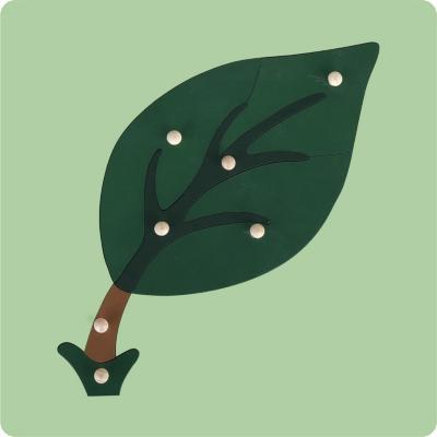 Encaje con mango hoja madera