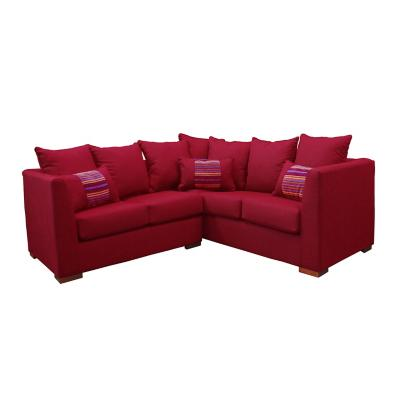Sofá seccional duncan 177x75x71 cm rojo