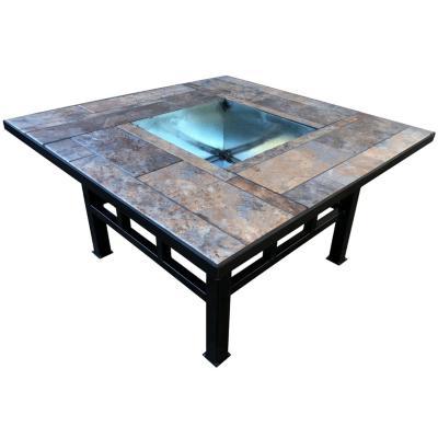Brasero mesa cuadrado 80x40 cm