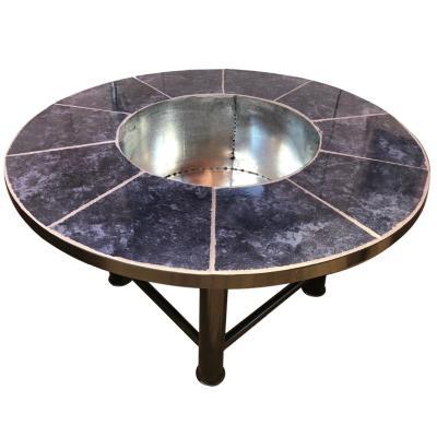 Brasero mesa redondo fierro