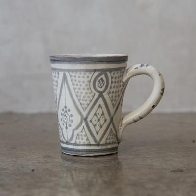 Taza Marroquí cerámica gris