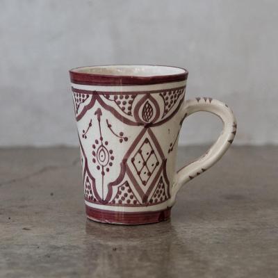 Taza Marroquí cerámica lavanda
