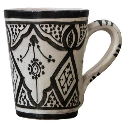 Taza Marroquí cerámica negro