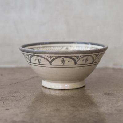 Bowl Marroquí 18 cm cerámica gris